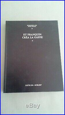 Franquin Estampe Gaston Et Popeye Tres Rare 450 Ex Numéroté Et Signée