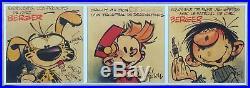 Franquin Trio collector d'affiches Spirou Marsupilami Gaston + Triptyque 180ex