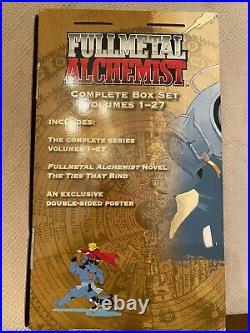 Fullmetal Alchemist Complete Box Set Vol. 1 27 English Manga Poster included