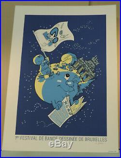 Geerts serigraphie Jojo 1er Festival BD Bruxelles 75 ex signe