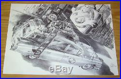 Ghostbusters Ecto-1 original art unpublished art commissioned by 88MPH