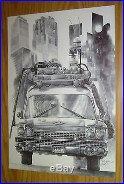 Ghostbusters Ecto-1 original art unpublished art commissioned by 88MPH (B)