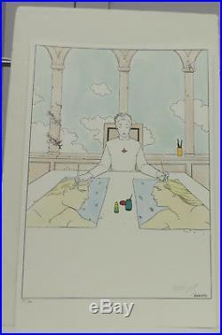 Giraud Moebius litho dessinateur ambidextre 100 ex signe 1992
