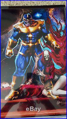 Greg Horn Signed Original Art Thanos Death Pencils Sketch Marvel Comic Rare HTF