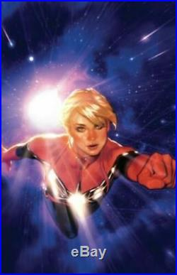 Grey Matter Art SIGNED Poster Captain Marvel 1 Variant by Adam Hughes