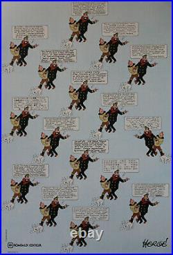 HERGÉ Les Jurons du Capitaine Haddock / Affiche originale entoilée (1985)