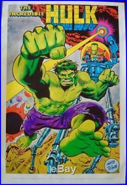 HULK MARVELMANIA 1970 Vintage Marvel comics poster 23x35 HERB TRIMPE NM