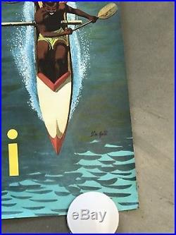 Hawaii Vintage Poster- 1960 Stan Galli (original) D E S I R E A B L E