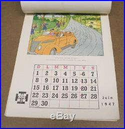 Herge Calendrier Fsc Scoutisme / Baden-powell 1947 Complet (be)