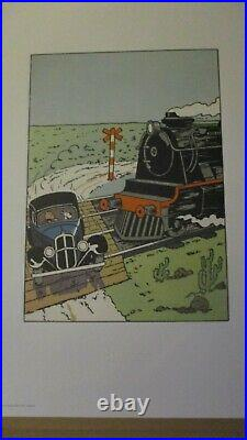 Hergé-Sérigraphie-L oreille cassée-Numérotée, TL-En étui cartonné-70 cm-Neuve