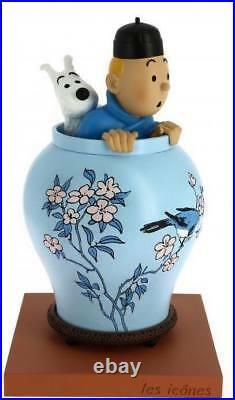 Hergé Tintin et Milou Potiche Le Lotus Bleu Collection Les Icônes Moulinsart