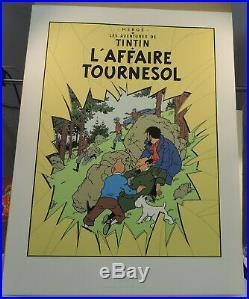 Herge Tintin serigraphie Escale 1987 couverture Affaire Tournesol