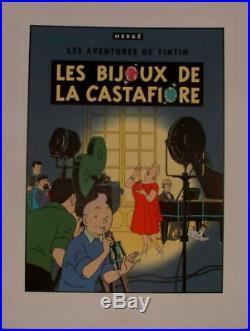 Herge Tintin serigraphie Escale 1988 couverture Bijoux de la Castafiore