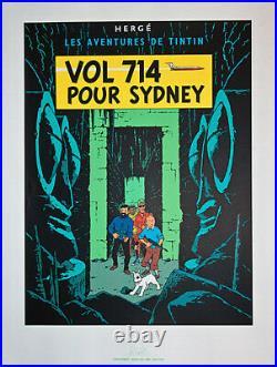 Hergé Vol 714 Pour Sidney Sérigraphie Une Des Vingt Deux Couvertures 1987