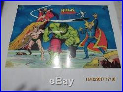 Hulk E I Difensori N. # 1 Dr. Strange Poster Adesivi Manifesto Gadget Corno