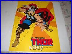IL Mitico Thor N. 26 Con Poster Manifesto E Adesivi Edizione Corno 1972 Gadget