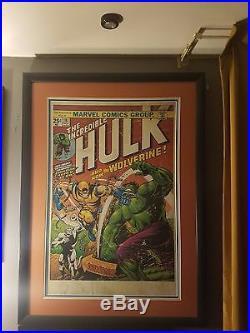 INCREDIBLE HULK #181 Art Massive 46x 34 HULK Wolverine Professional framed