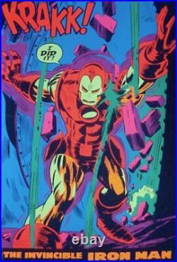 IRON MAN KRAKK MARVEL THIRD EYE Black light poster TE4019 GENE COLAN