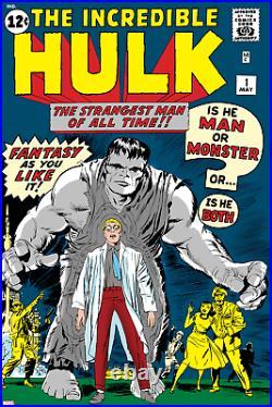 Incredible Hulk #1 Comic Book Cover Art Print Jack Kirby 1962 Stan Lee Poster