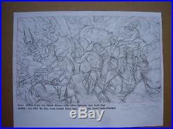 JAMES JEAN Marvel X-Men Poster Original Art Pencils