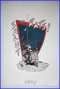 JANO SALUT LES RATS! -SÉRIGRAPHIE N°et SIGNÉE -200 EX-1982-TRÈS RARE-Par JANO