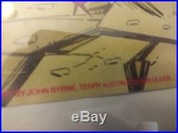 JOHN BYRNE 1991 MARVEL & DC TWO POSTER SET in poster frames