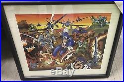 Jack Kirby Artist Proof #8/95 Marvelmania Print RARE Signed JSA LOA