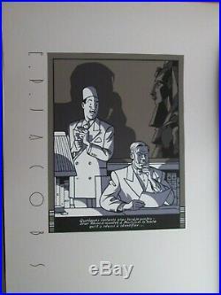 Jacobs Rare Serigraphie Blake Et Mortimer 50x70 Neuf
