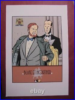 Jacobs Tres Rare Serigraphie Blake Et Mortimer Collection Vetements Neuf