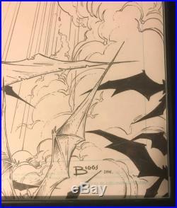 Jamie Biggs Graphite Batwoman Versus Powergirl Detective Comics Cover
