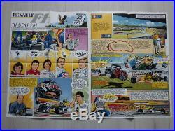 Jean Graton (Michel Vaillant) RENAULT F1 Lot 7 Posters LA RAGE DE GAGNER (1989)