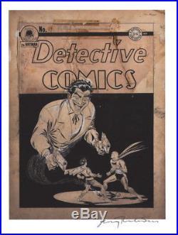 Jerry Robinson SIGNED Batman Detective Comics #69 Art Print Giclee FROM ORIGINAL