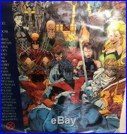 Jim Lee X-Men Door Poster #121 Huge Rare Psylocke Rogue 1992 Vintage Make Offer