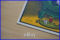 Jim Woodring signed Frank Pupshaw screenprint print Fantagraphics Desert Island