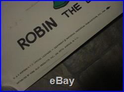 Killer 1966 ROBIN UNMASKED from BATMAN 40x 27 G+F POSTER