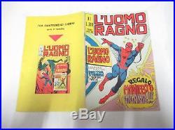 L' Uomo Ragno N. # 1 Con Poster Manifesto Edizione Corno 1970 Gadget Ottimo