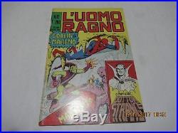 L' Uomo Ragno N. # 12 Con Poster Manifesto Edizione Corno 1970 Gadget Goblin