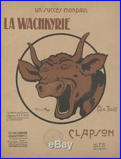 LA WACHKYRIE Couverture de partition entoilée d'après Benjamin RABIER 1919