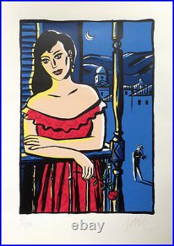 LOUSTAL SERIGRAPHIE FEMME, MARQUEZ 750 ex. N°/signés par l'artiste