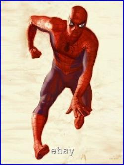 Large Spider-Man Vintage Foom Poster Recreation Spider Man Fine Art Lithograph