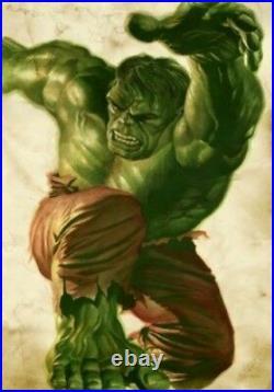 Large The Hulk Smash Vintage Foom Poster Recreation Fine Art Lithograph Print