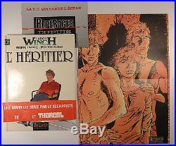 Largo Winch de Francq et Van Hamme L'héritier EO + poster + bandeau TBE