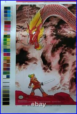 Legend of Zelda A Link to the Past RARE UNCUT Nintendo PROMO POSTER Ishinomori