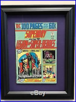 Legion of super Heroes Alex Ross + 3 Framed Legion Comics #202 #208 #231
