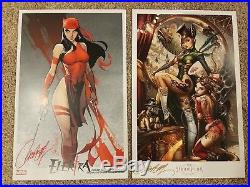 Lot of 18 17x11 Prints signed by J Scott Campbell