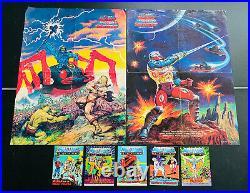 Lot of 5 Mini He-Man Comic Books POSTERS 4 5 MOTU Masters of the Universe Keldor