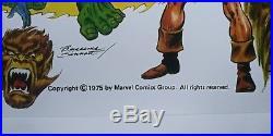 MARVEL JOHN BUSCEMA JOE SINNOTT 1975 POSTER SIGNED STAN LEE COA 18x24 THOR HULK