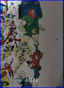 MARVEL UNIVERSE POSTER, original 1988 edition, 50x50, original tube, excellent