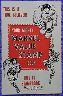 MARVEL VALUE STAMP BOOK AND SPIDER-MAN POSTER EXTREMELY RARE NM/M Marvel 1973