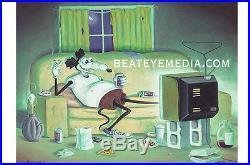 MICKEY RAT PRINT-UNDERGROUND COMICS, COMIX, COMIC, CRUMB, HIPPIE, 60s, COUNTER CULTURE